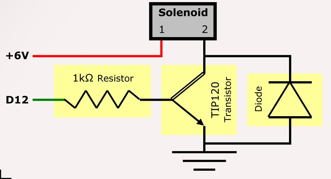 cmu mechatronics solenoid driving circuit rh cmu mechatronics pbworks com solenoid driver circuit protection solenoid driver circuit schematic